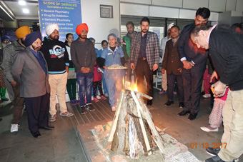 Lohri event gallery of Dr Sarbjit's Neuro Psychiatric Hospital and anr Centre for Opiate De Addiction Jalandhar